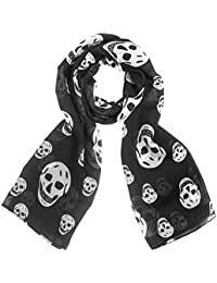 Skull Scarf Fashion Chiffon Skull Scarves Super Lightweight Skull Wraps
