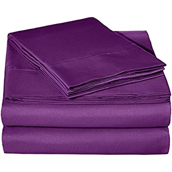 AmazonBasics Lightweight Super Soft Easy Care Microfiber Sheet Set with 16