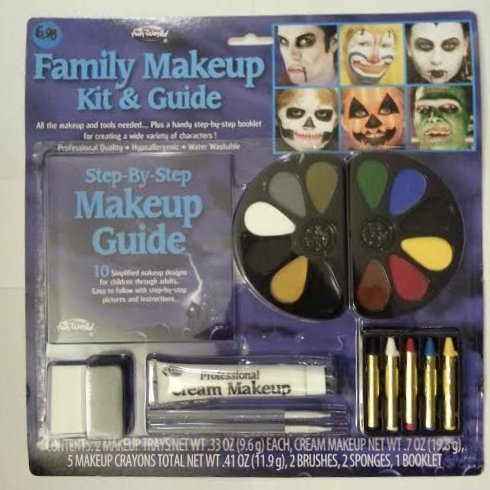 Costume Makeup Informational Step Guide