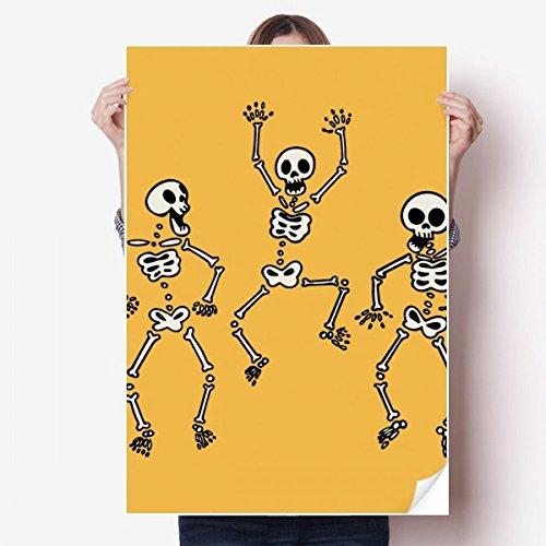 DIYthinker Lovely Halloween Skeletons Vinyl Wall Sticker Poster Mural Wallpaper Room Decal 80X55cm]()