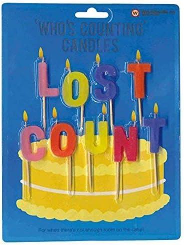 Amazon.com: Lost Count novedad Vela de cumpleaños: Home ...