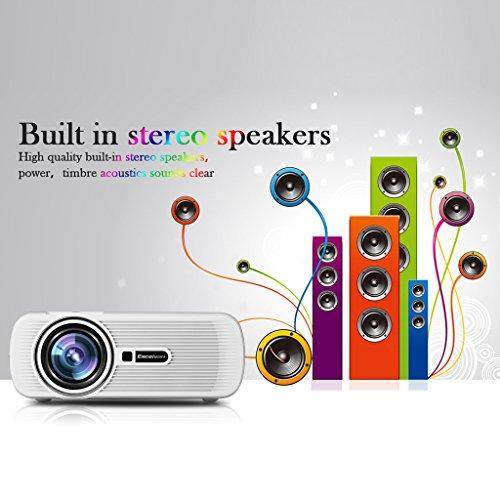 Excelvan EHD01 - Mini Proyector portatil LED Home Cinema (1200 ...
