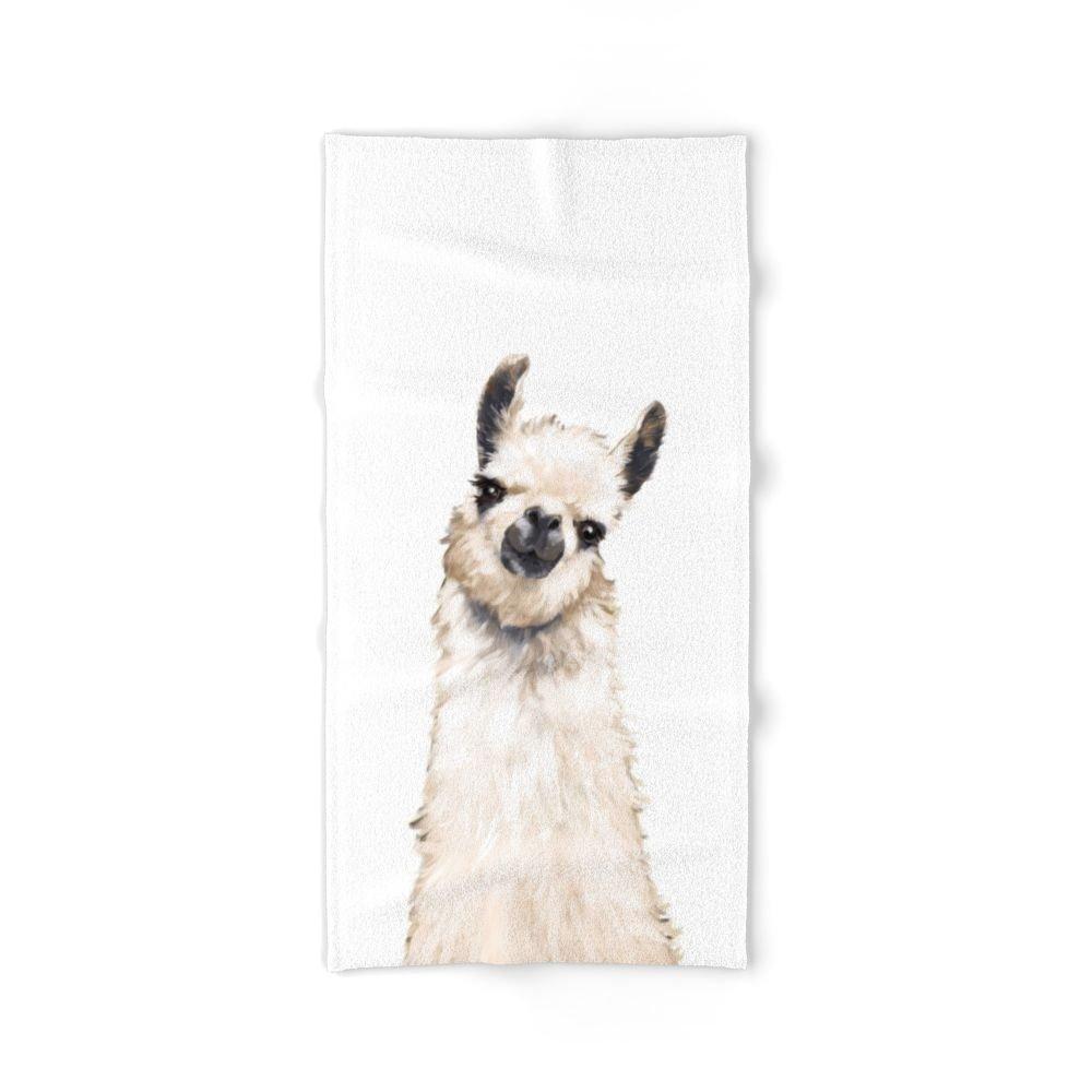 Society6 Llama Bath Towel 64''x32''