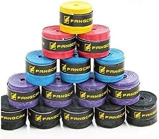 Ruiting 5 PCS (schwarz, blau, violett, gelb, rot) PU Weich, Feuchtigkeit und Anti-Rutsch Griffband für Tennis und Badminton Schläger Bike Bar