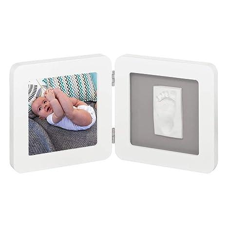 Baby Art 34120050 - Marco doble para foto con material para huella de pie o mano