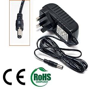 2 meter cable largo enchufe británico Pure Tempus-1XT Radio DAB 9 V adaptador de CA de alimentación de corriente continua por chargers4all