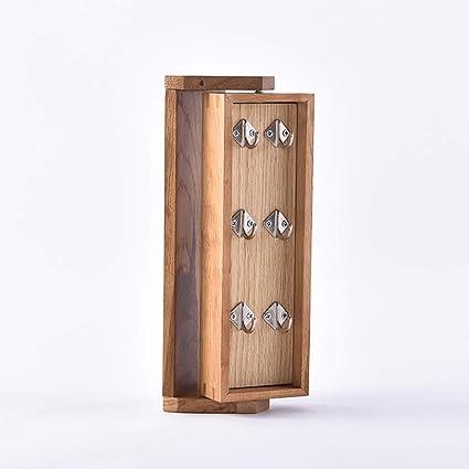 Cajas y percheros para sombreros Clave de madera maciza nórdica que cuelga  360 ° caja giratoria fd0665c80d3