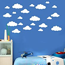 "31pcs / set Wall Decals, DIY Large Clouds 4-10"" Wall Sticker Removable Vinyl Children's Room Home Decoration Art"