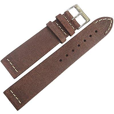 ColaReb 18mm Spoleto Short Dark Brown Leather Watch Strap from ColaReb