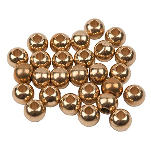 (French Brass Beads, 100 Pieces)