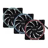 XSPC RGB Series 120mm Fan, 12V, 4-pin, 800-2200 RPM, 3-Pack