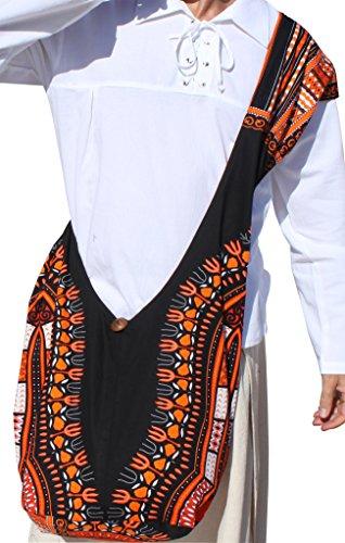 Black Orange Bag Pattern Long Orange Blue Reversable Strap Monks White RaanPahMuang Shoulder Dashiki UqPnx1w7O