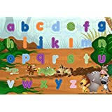 It's A Jungle In My Room Wooden Lower Case Alphabet Puzzle (26 Piece)