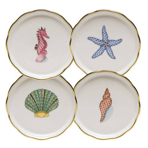 Herend Aquatic Coaster Set Of Four by Herend