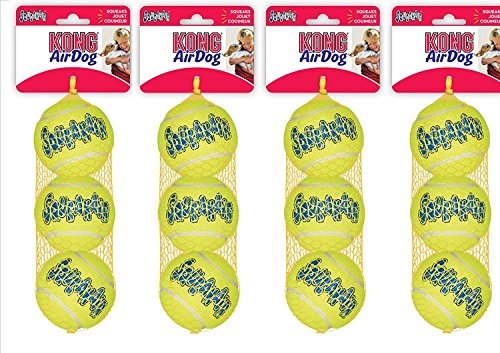 KONG Air Squeakers Tennis Ball Dog Toy 12 Medium Balls [Misc.]