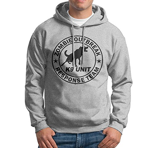 Cool Zombie Hoodie Keep Calm And Run Zombies Are Coming! Halloween Mens Hooded Sweatshirt S-3XL