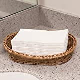 Disposable White Guest Napkins Towel - Cloth-Like Paper Hand Guest Linen-Feel Towels - Soft, Absorbent, Air laid Tissue Paper for Kitchen, Bathroom or Events (200)