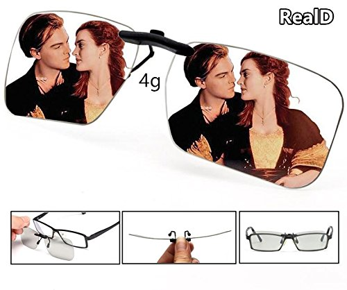 Micro Engineering Bridge (3D Viewing Surprise Eyewear Users | Square 3D Glasses Clip On Glasses Movie/Cinema/Theater/3D TV/3D Projector | 100% No Visual Interference | Lightest Most Comfortable | (RealD))