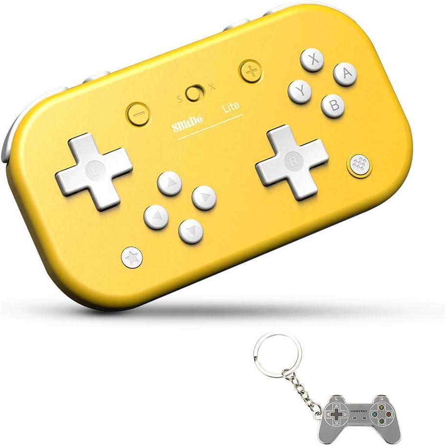 AKNES Lite Bluetooth Wireless Controller for Nintendo Switch & Lite, Nintendo Switch & Windows, Steam, Raspberry Pi(Yellow Edition)