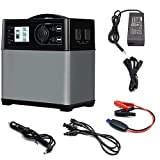 ECO LLC Portable Solar Generator 400Wh High Capacity Lithium-ion Power Supply Energy Storage with 110V AC Outlet, 12V Car, USB Output Off-Grid Power Supply for CPAP Backup Camping Emergency