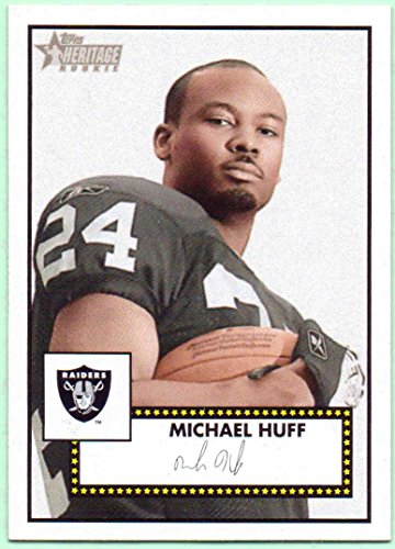 2006 Topps Heritage Rookie Card (Michael Huff 2006 Topps Heritage Rookie Black Back #54 - Oakland Raiders)