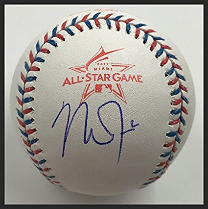 9a9fb2a992d1 Image Unavailable. Image not available for. Color  Mike Trout Autographed  2017 All-Star Game ...