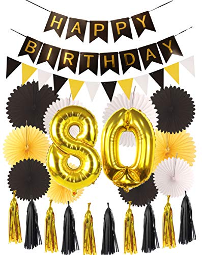 80th Birthday Party Decorations KIT | Happy Birthday