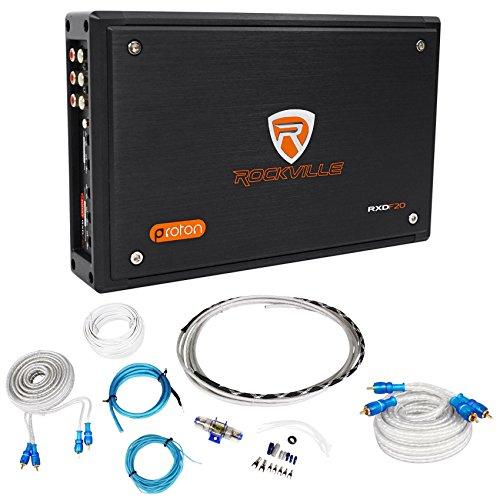 Rockville RXD-F20 Micro Motorcycle Amplifier 1600w Peak 4 Channel 4x100W+Amp Kit