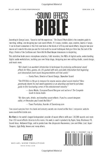 The Sound Effects Bible: How to Create and Record Hollywood