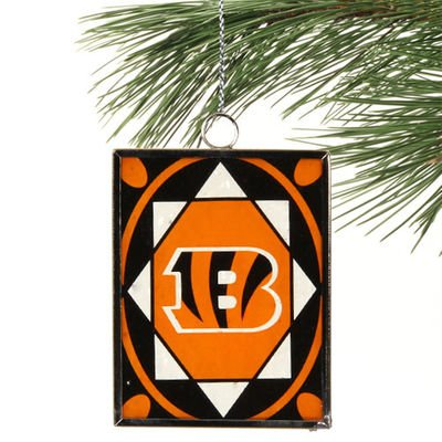 Bengals Stained Glass Ornament