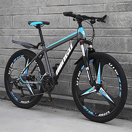 XHCP Mens 26 Inch Mountain Bike with Disc Brake, High Carbon Steel Mountain Bikes Adult Mountain Bikes Men/Women (Black)