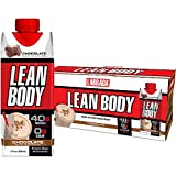 LABRADA - Lean Body Ready-to-Drink Whey Blend Chocolate Protein Shake, Convenient On-the-Go Meal Replacement Shake, 22 Vitamins & Minerals, 40 grams of Protein - 0 Sugar, Gluten Free, (Pack of 12)