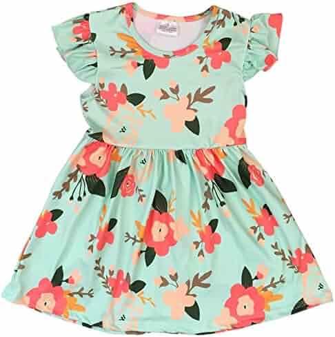 6e62de5ffb BNY Corner Little Girl Kids Cap Sleeve Floral Birthday Party Flower Girl  Dress 2T-8