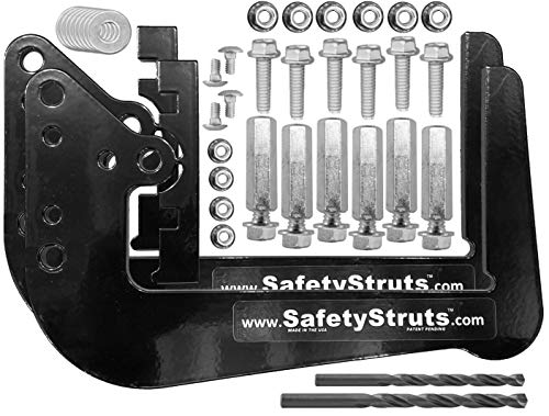 Mount-n-Lock SafetyStruts Prevent RV Bumper Failure TM (SNU-Universal, Black)