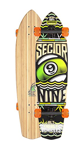 Sector 9 A.E.V. Complete Skateboard Cruiser (Orange Wheels w/ Bones - Ev Orange