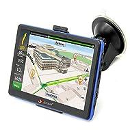 junsun 7 pouces GPS portable voiture Système de navigation Unités 8GB / 256MB écran capacitif véhicule Truck Sat Nav GPS gratuit Map Update (Standard)