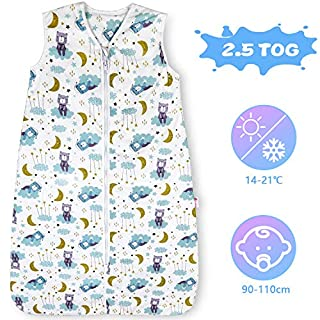 Lictin Baby Sleeping Bag - 2.5 Tog Baby Wearable Blanket Sleeping Sack Baby Swaddle Blanket Sack with Adjustable Length 90-110cm for Infant Toddler 18 to 36 Months