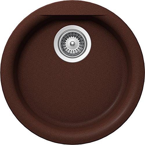 SCHOCK EURR100U009 EURO Series CRISTALITE Dual Mount Round Bar/Prep Sink, Copper ()