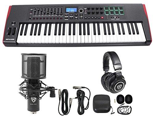 Novation IMPULSE 61 Ableton Live 61-Key USB Keyboard Controller+Mic+Headphones by Novation