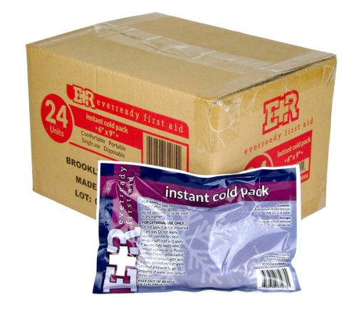 Ever Ready First Aid Instant Cold Pack, 6x9 Inch, 24 Count (Cold Aid)
