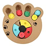 Homedeco Dog Cat Pet Game IQ Training Toy Interactive Wooden Food Dispensing Puzzle Plate