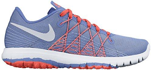 Nike Flex Fury 2 (Gs), Zapatillas de Deporte Para Niñas Azul / Plateado / Blanco / Amarillo (Chlk Bl / Mtllc Slvr-Wht-Brght M)