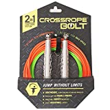 Crossrope Bolt Set – Get Fit Fast with Best Jump Rope Workout – Elite Speed Rope and Freestyle Jump Rope Training – Speed Rope, Sprint Rope + Our Premium Bolt Handle – Fully Adjustable Jump Ropes