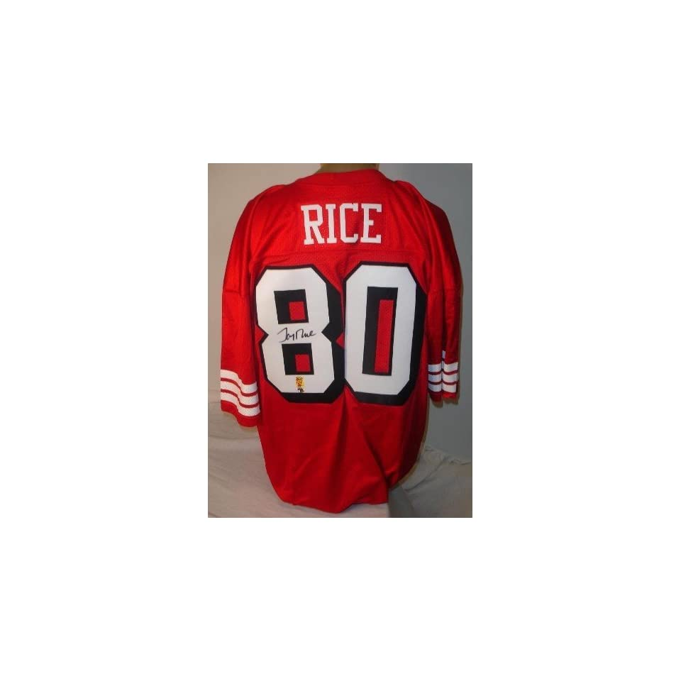 Jerry Rice Autographed/Hand Signed San Francisco 49ers Red