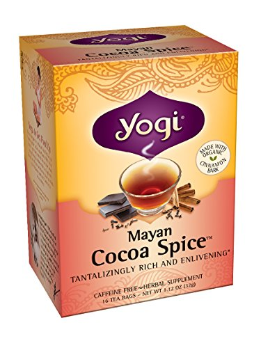 Yogi Tea, Mayan Cocoa Spice, 16 Count (Pack of 6), Packaging May Vary