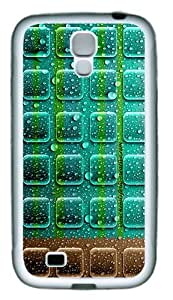 Wet Icons TPU Rubber Soft Case Cover For Samsung Galaxy S4 SIV I9500 White