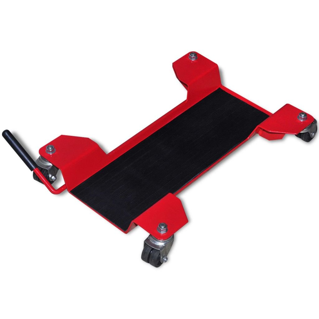 Belastbarkeit 100 kg Nishore Motorrad-Rangierhilfe Rangierplatte Transportst/änder 360/° drehbare Max