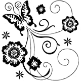 Inka Dinkado Butterfly Scroll Clear Stamp