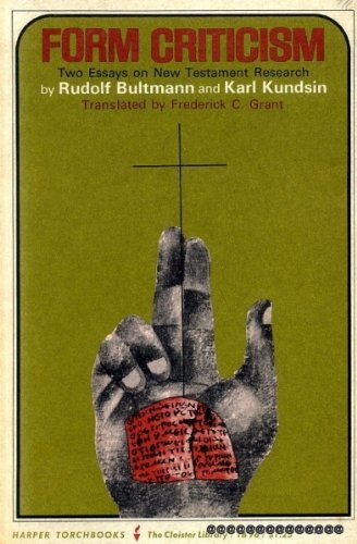 old testament paper on form criticism While form criticism does not solve all the interpreter's problems, it forms an essential tool for exegesis and for recovering the living history of old testament literature paperback isbn:.