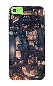 New Tpu Hard Case Premium Iphone 5c Skin Case Cover(asian Cityscape) For Christmas Gift